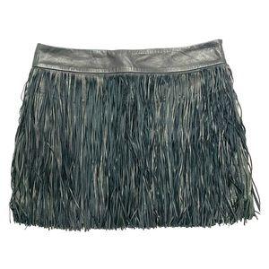 Polo Ralph Lauren Fringe Leather Skirt